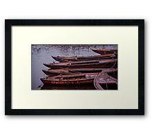 Boat Jam Framed Print