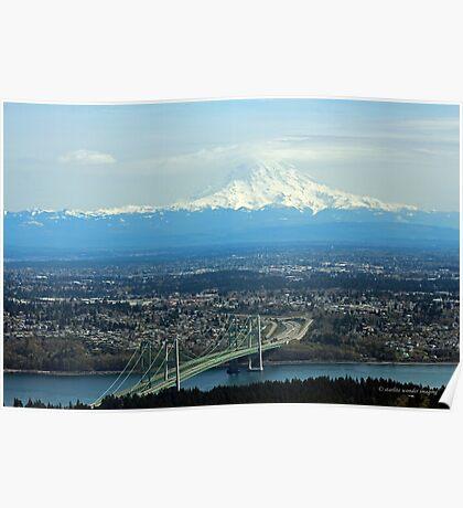 Tacoma Narrows To The Mountain Poster