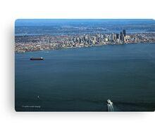Seattle On The Horizon Canvas Print