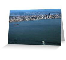 Seattle On The Horizon Greeting Card