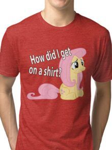 Fluttershy out of place Tri-blend T-Shirt