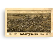 Panoramic Maps Canastota NY 1885 Canvas Print