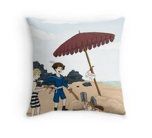 Captain Holmes Captures the Red-Headed League Throw Pillow