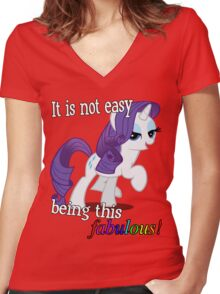 Rarity is fabulous Women's Fitted V-Neck T-Shirt