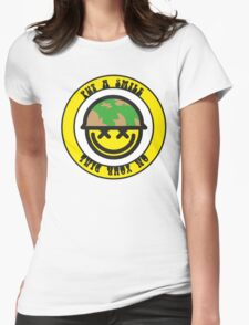 Put a smile on your dial Womens Fitted T-Shirt