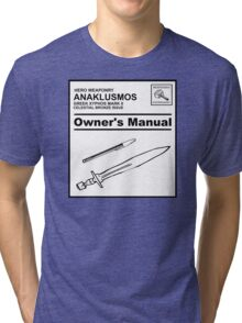 Riptide Owner's Manual (Percy Jackson) Tri-blend T-Shirt