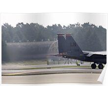 Eagle Jet Blast Poster