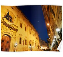 An evening passagiata in Lecce Poster