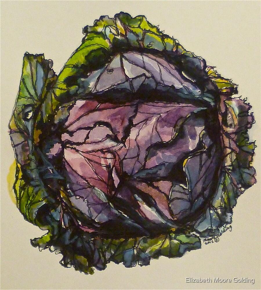 Purple cabbage. Elizabeth Moore Golding 2012Ⓒ by Elizabeth Moore Golding