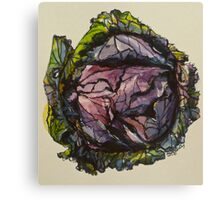 Purple cabbage. Elizabeth Moore Golding 2012Ⓒ Canvas Print