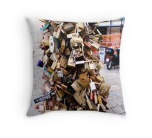 Lovers' Locks in Lecce Throw Pillow