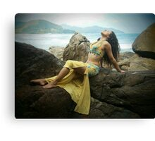 Bellydancer at Camburi, Brazil Canvas Print