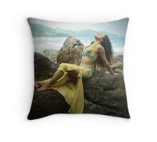 Bellydancer at Camburi, Brazil Throw Pillow