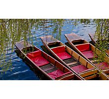 Punting Boats Photographic Print