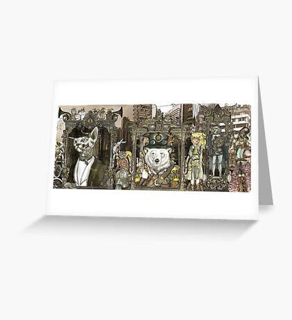 Steampunk City Greeting Card