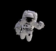 Astronaut on Black by Henrik Lehnerer