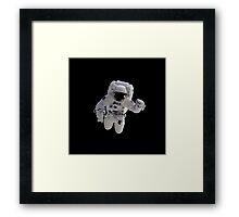 Astronaut on Black Framed Print