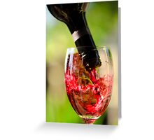 Spill The Wine #2 Greeting Card