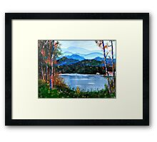 hills of carolina Framed Print