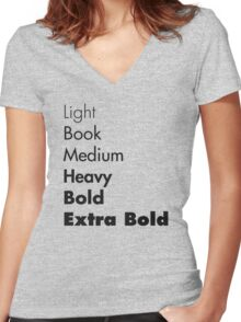Weights of Futura Women's Fitted V-Neck T-Shirt