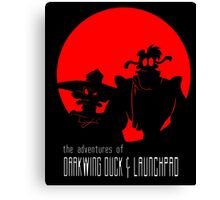 The Adventures of Darkwing Duck & Launchpad Canvas Print