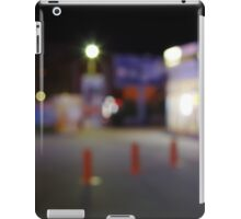 Night urban scene with blurred lights iPad Case/Skin