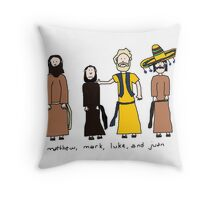 Matthew, Mark, Luke, and Juan Throw Pillow