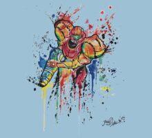 Epic Samus Aran - Watercolor Streetart T shirts + More! Kids Tee
