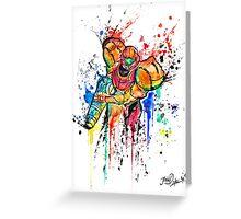 Epic Samus Aran - Watercolor Streetart T shirts + More! Greeting Card