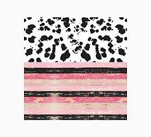 Black & Pink Rustic Wood & Paint Splatter Classic T-Shirt