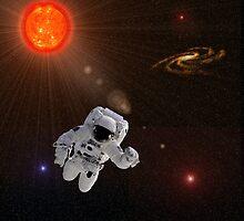 Astronaut Sun Stars by Henrik Lehnerer