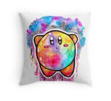 Cute Galaxy KIRBY - Watercolor Painting - Nintendo Jonny2may Throw Pillow