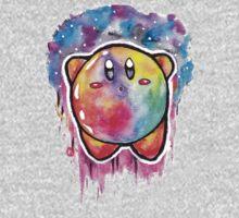 Cute Galaxy KIRBY - Watercolor Painting - Nintendo Jonny2may Kids Clothes