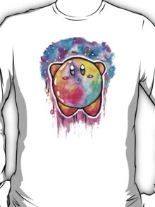 Cute Galaxy KIRBY - Watercolor Painting - Nintendo Jonny2may T-Shirt