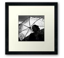 sunshine & silhouettes Framed Print