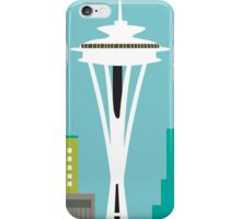 Seattle, Washington - Skyline Illustration by Loose Petals iPhone Case/Skin