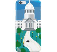 Boise, Idaho - Skyline Illustration by Loose Petals iPhone Case/Skin