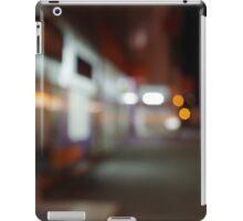Night urban scene with diffuse lighting shop windows iPad Case/Skin