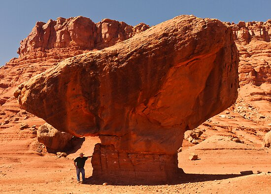 Vermillion Cliffs - 5 - Hold The Rock ©  by © Hany G. Jadaa © Prince John Photography