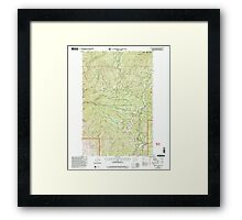 USGS Topo Map Washington State WA Loup Loup Summit 242081 2001 24000 Framed Print
