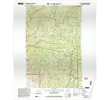 USGS Topo Map Washington State WA Loup Loup Summit 242081 2001 24000 Poster