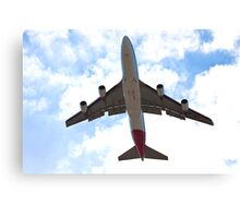 Low flying plane Canvas Print