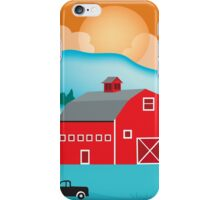 Montana - Skyline Illustration by Loose Petals iPhone Case/Skin