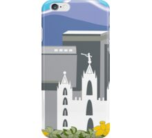 Salt Lake City, Utah - Skyline Illustration by Loose Petals iPhone Case/Skin