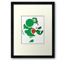 Yoshi - N64 Smash Bros Framed Print