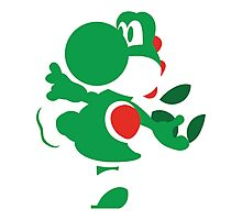 Yoshi - N64 Smash Bros Photographic Print