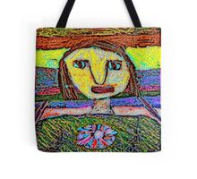 Girl's Face #1a Tote Bag