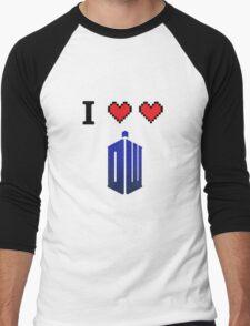 I love love Doctor Who Men's Baseball ¾ T-Shirt