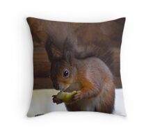 Red Squirrel - Isle of Wight Throw Pillow