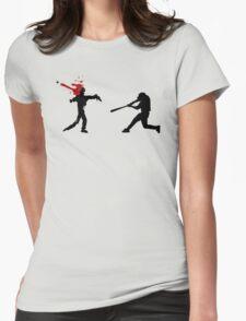 Baseball Versus Zombie Womens Fitted T-Shirt